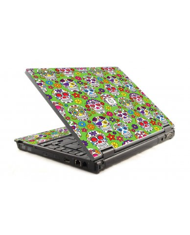 Green Sugar Skulls HP Compaq 6910P Laptop Skin