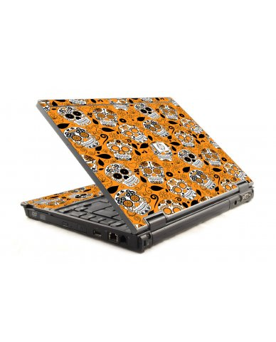 Orange Sugar Skulls HP Compaq 6910P Laptop Skin