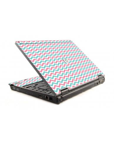 Pink Teal Chevron Waves HP Compaq 6910P Laptop Skin