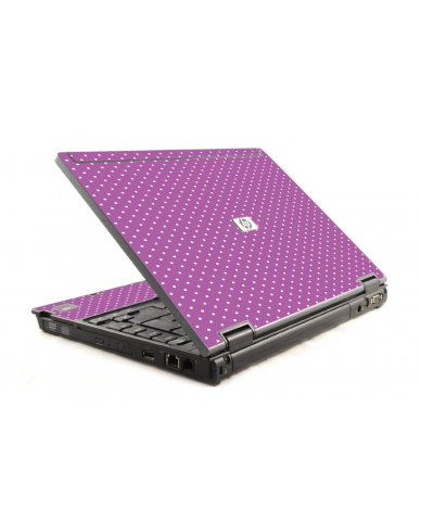 Purple Polka Dot HP Compaq 6910P Laptop Skin