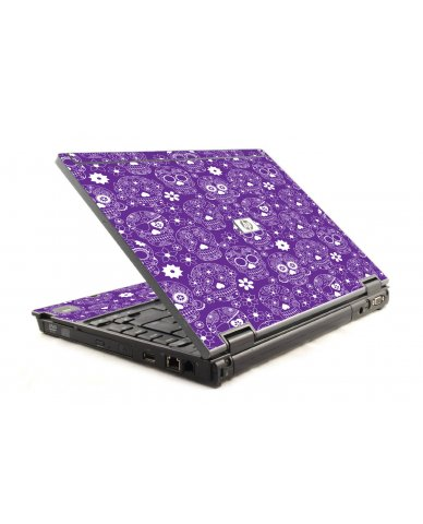 Purple Sugar Skulls HP Compaq 6910P Laptop Skin