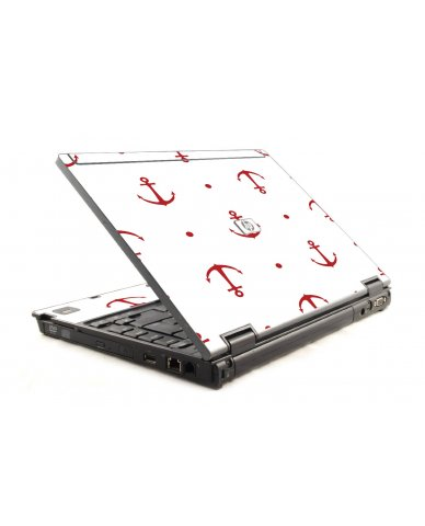 Red Anchors HP Compaq 6910P Laptop Skin