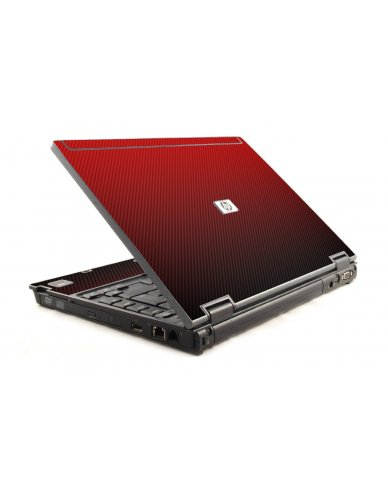 Red Carbon Fiber HP Compaq 6910P Laptop Skin