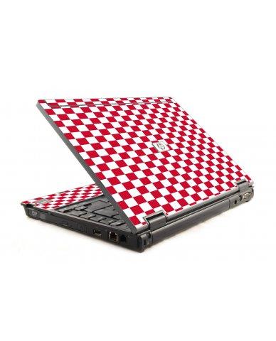 Red Check HP Compaq 6910P Laptop Skin