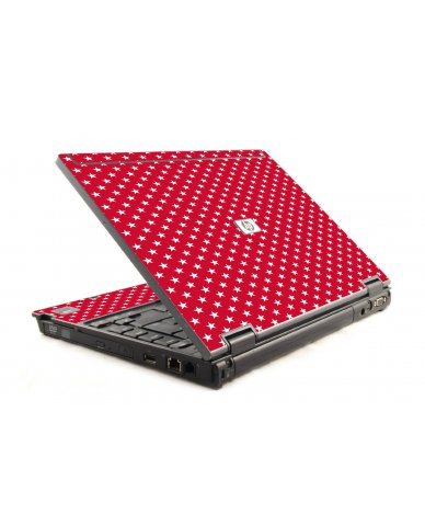 Red White Stars HP Compaq 6910P Laptop Skin