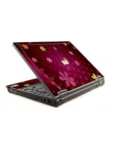 Retro Pink Flowers HP Compaq 6910P Laptop Skin