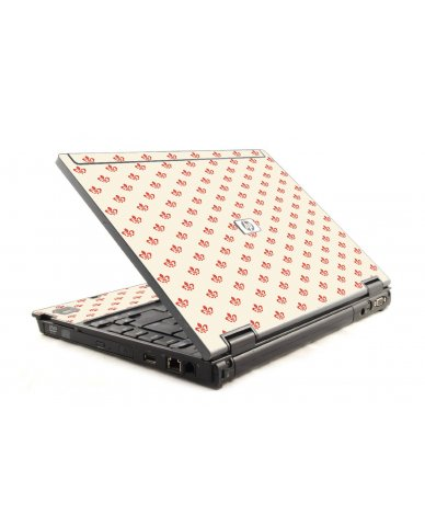 White And Pink Versailles HP Compaq 6910P Laptop Skin