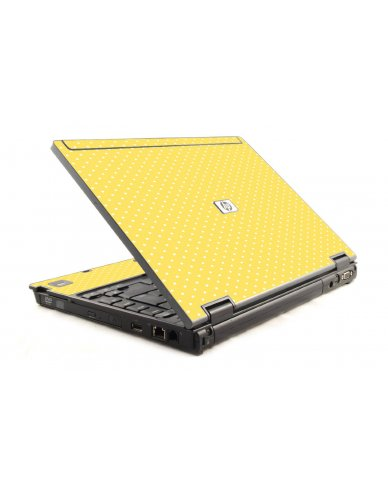 Yellow Polka Dot HP Compaq 6910P Laptop Skin