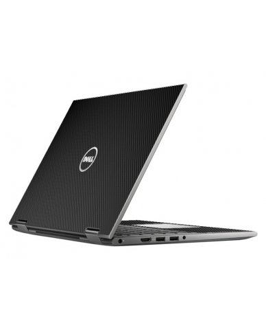 BLACK TEXTURED CARBON FIBER DELL INSPIRON 5368 SKIN