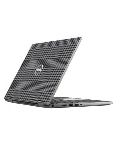 DARKEST GREY PLAID DELL INSPIRON 5368 SKIN