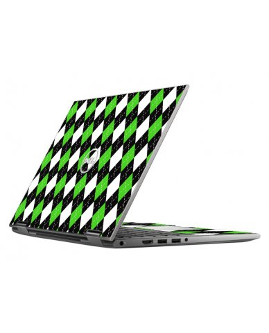 GREEN BLACK ARGYLE DELL INSPIRON 5368 SKIN