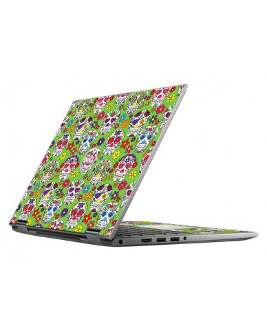 GREEN SUGAR SKULLS DELL INSPIRON 5368 SKIN