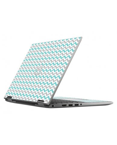 TEAL GREY CHEVRON DELL INSPIRON 5368 SKIN