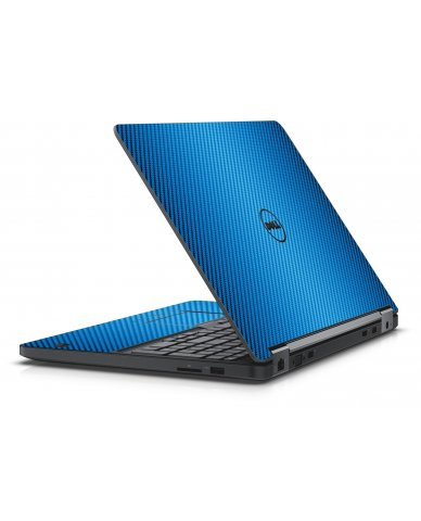 BLUE TEXTURED CARBON FIBER DELL LATITUDE E5550 SKIN