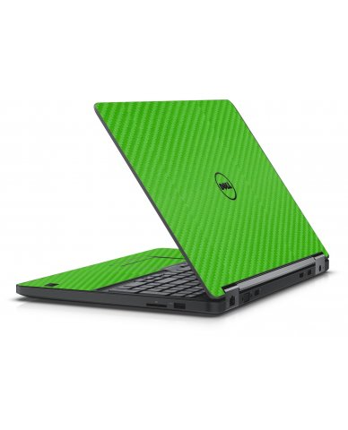 GREEN TEXTURED CARBON FIBER DELL LATITUDE E5550 SKIN