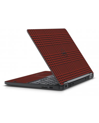 RED FLANNEL DELL LATITUDE E5550 SKIN