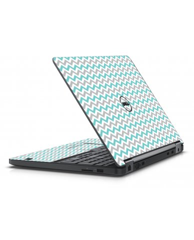 TEAL GREY CHEVRON DELL LATITUDE E5550 SKIN