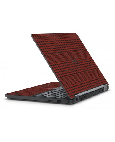 RED FLANNEL DELL LATITUDE E5570 SKIN
