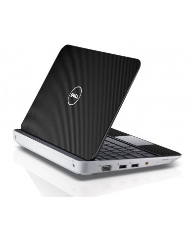 BLACK TEXTURED CARBON FIBER Dell Inspiron Mini 10 1018 Skin