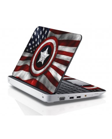 CAPTAIN AMERICA FLAG Dell Inspiron Mini 10 1018 Skin