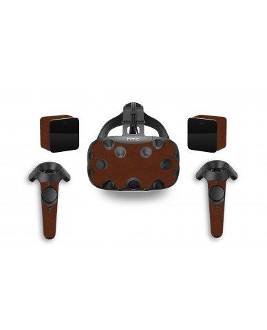 BROWN LEATHER HTC VIVE VR SKIN
