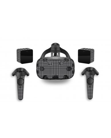 DARKEST GREY PLAID HTC VIVE VR SKIN
