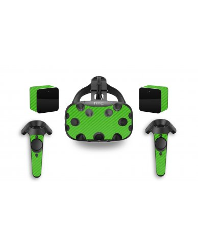 GREEN TEXTURED CARBON FIBER HTC VIVE VR SKIN