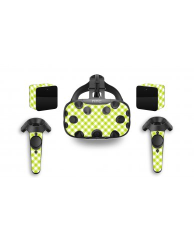 GREEN CHECKERED HTC VIVE VR SKIN