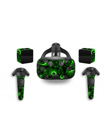GREEN SWIRLS HTC VIVE VR SKIN
