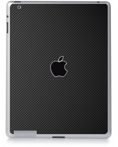 BLACK TEXTURED CARBON FIBER Apple iPad 2 A1395 SKIN