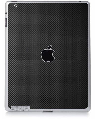 BLACK TEXTURED CARBON FIBER Apple iPad 4 A1458 SKIN