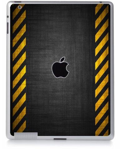 BLACK CAUTION BORDER Apple iPad 3 A1416 SKIN