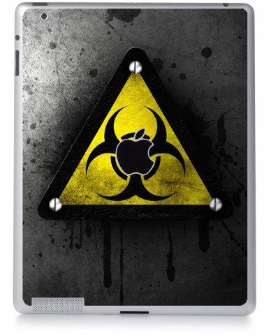 BLACK CAUTION Apple iPad 4 A1458 SKIN