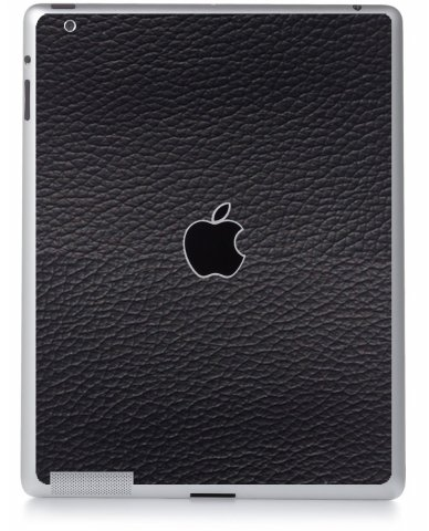 BLACK LEATHER Apple iPad 4 A1458 SKIN