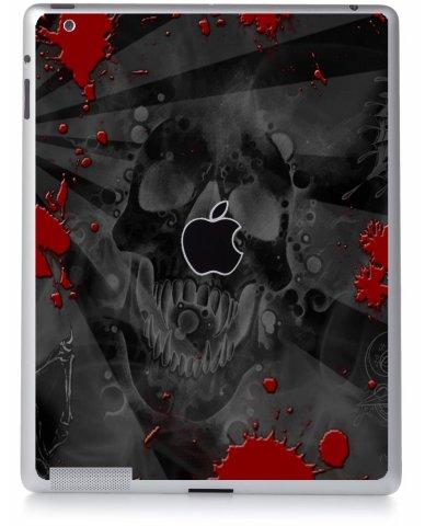 BLACK SKULL RED Apple iPad 4 A1458 SKIN