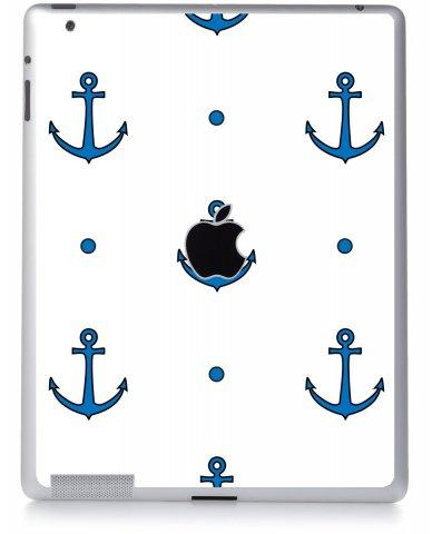 BLUE ANCHORS Apple iPad 4 A1458 SKIN