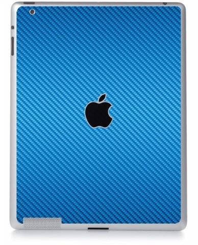 BLUE TEXTURED CARBON FIBER Apple iPad 2 A1395 SKIN