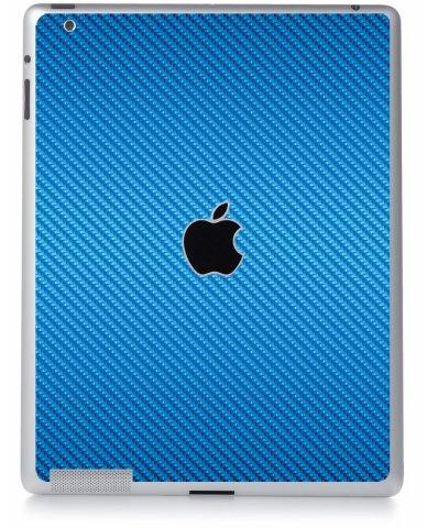 BLUE TEXTURED CARBON FIBER Apple iPad 4 A1458 SKIN