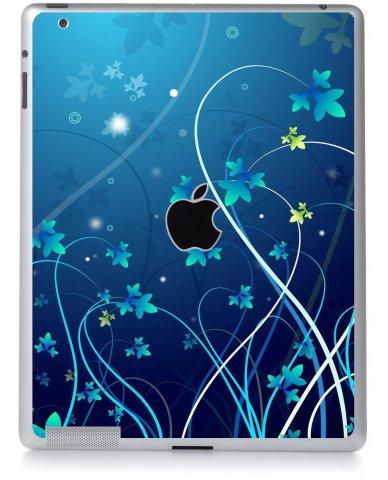 BLUE FLOWER Apple iPad 2 A1395 SKIN