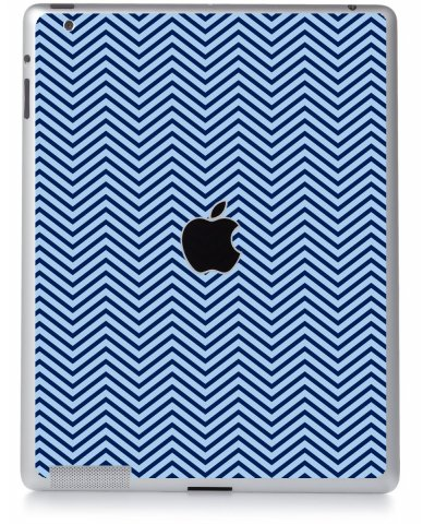 BLUE ON BLUE CHEVRON Apple iPad 2 A1395 SKIN