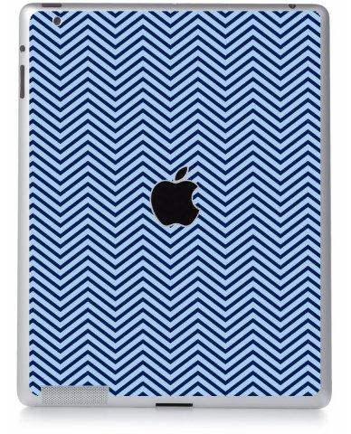 BLUE ON BLUE CHEVRON Apple iPad 2 A1395 SKIN