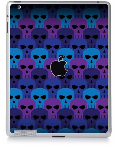 BLUE SKULLS Apple iPad 3 A1416 SKIN
