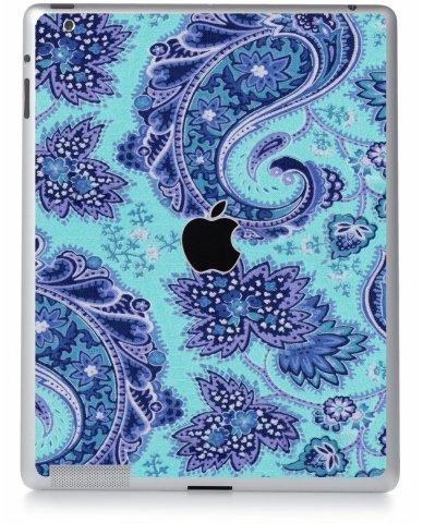 Blue Teal Paisley Apple iPad 4 A1458 Skin