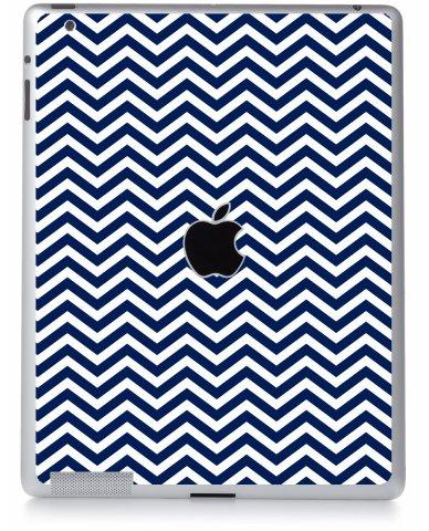 BLUE WAVY CHEVRON Apple iPad 4 A1458 SKIN