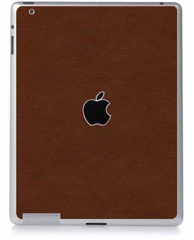 BROWN LEATHER Apple iPad 2 A1395 SKIN