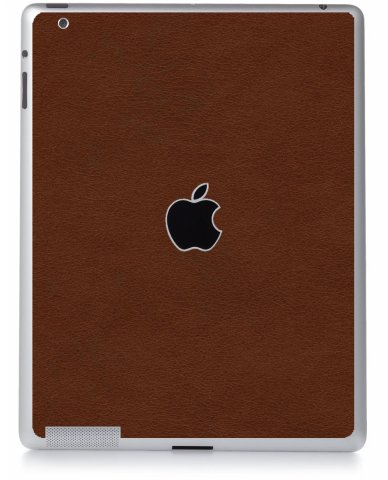 BROWN LEATHER Apple iPad 4 A1458 SKIN