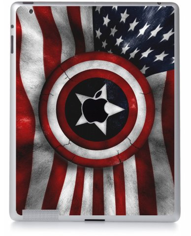 CAPTAIN AMERICA FLAG Apple iPad 3 A1416 SKIN