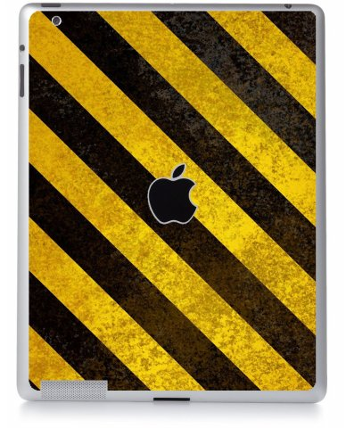 CAUTION STRIPES Apple iPad 2 A1395 SKIN