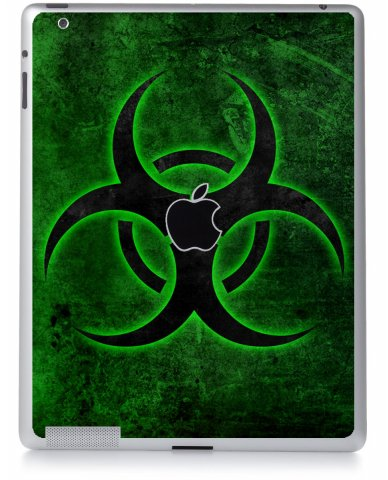 GREEN BIOHAZARD Apple iPad 2 A1395 SKIN