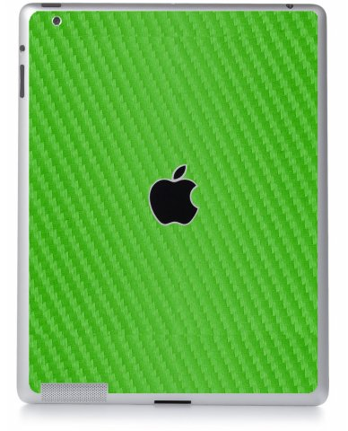 GREEN TEXTURED CARBON FIBER Apple iPad 2 A1395 SKIN